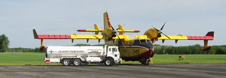 Flight Fuels LP Refuelling a CL-215 water bomber